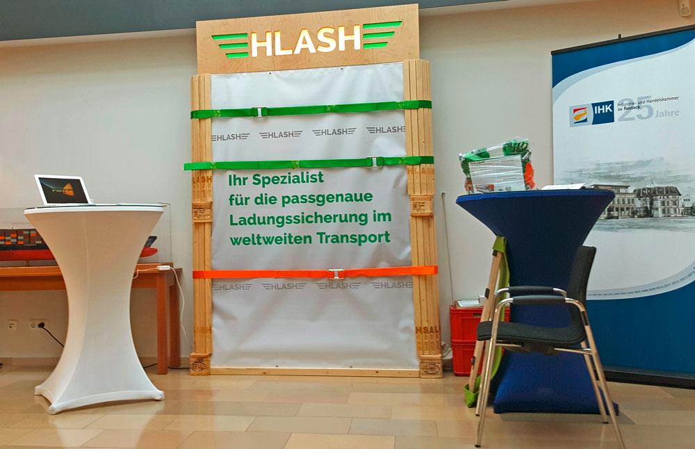 Messestand HLash GmbH 19. Mecklenburger Gefahrgutkongress in Rostock