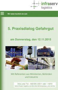 5. Praxisdialog Gefahrgut im Industriepark Höchst Flyer