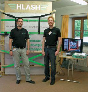 Infostand Ladungssicherung im Container HLash GmbH