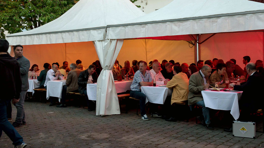Catering Zelt auf dem Gefahrgut Infomarkt