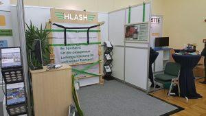 Messestand Ladungssicherung im Container der HLash GmbH beim Leuna Dialog 2016