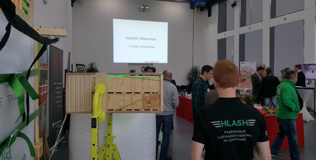 HLash Ladungssicherung im Container auf den Gefahrguttagen in Fulda