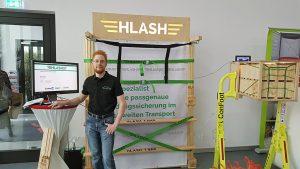 HLash Ladungssicherung im Container Infostand Fulda