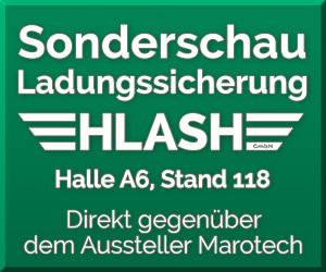 Sonderschau Ladungssicherung HLash GmbH transport logistic