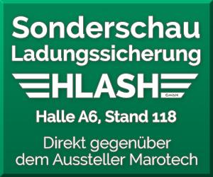 Sonderschau Ladungssicherung HLash GmbH transport logistic