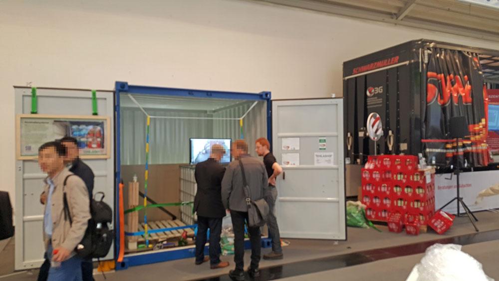 HLash Messestand Ladungssicherung im Container transport logistic münchen