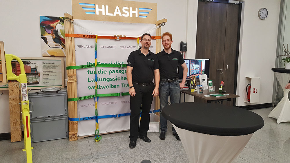 Internationale Gefahrgut Tage Hamburg 2020 | HLash Stand | Ladungssicherung im Container
