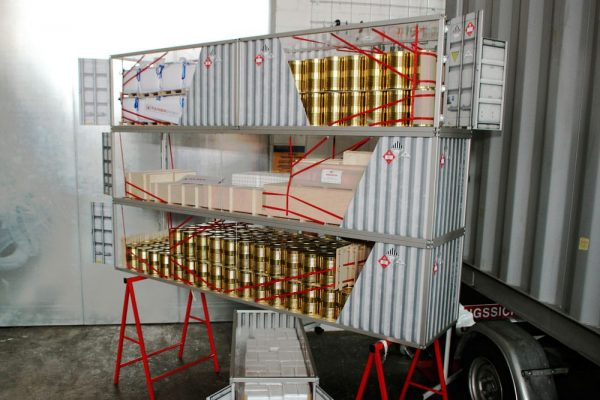 Container-Ladungssicherung-Schulung-Modell