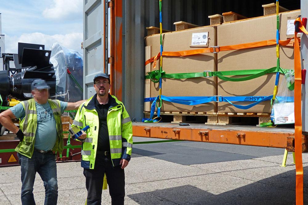Training Ladungssicherung Container