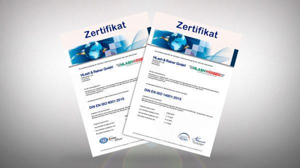 HLash & Rainer GmbH DIN EN ISO Zertifizierungen