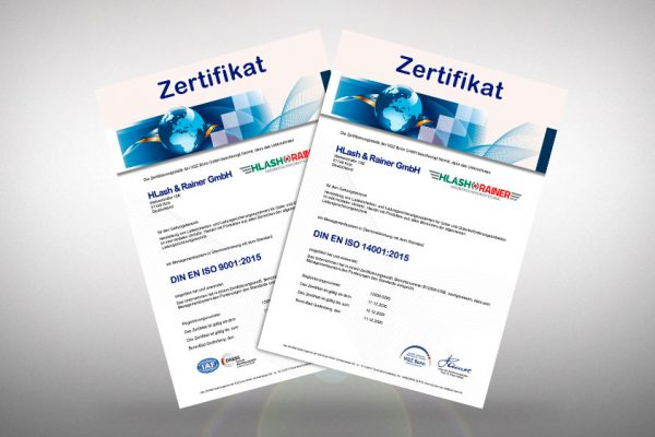 Certifications: We have been awarded our certificates