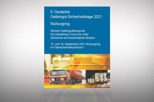 Ermäßigter Eintritt für unsere Kunden bei den 9. Deutschen Gefahrgut-Sicherheitstagen 2021 am Nürburgring